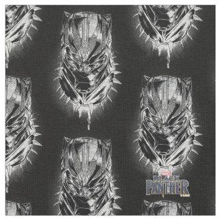 Tissu Panthère noire croquis principal noir et blanc de