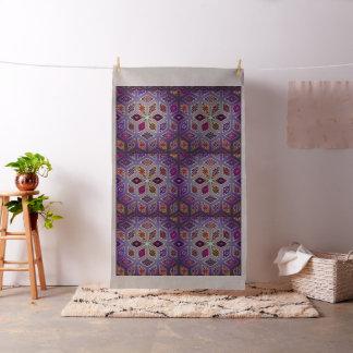 Tissu Patchwork vintage avec les éléments floraux de