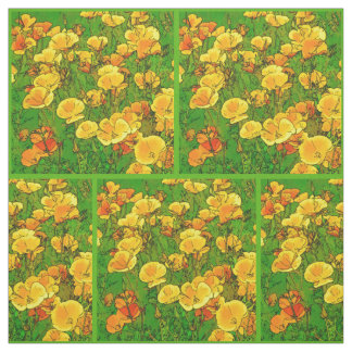 Tissu Pavots de Californie oranges 2.2.2.g