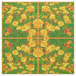 Tissu Pavots de Californie oranges 2.2.2.o