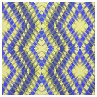 Tissu peint par zigzag bleu de contre-taille et