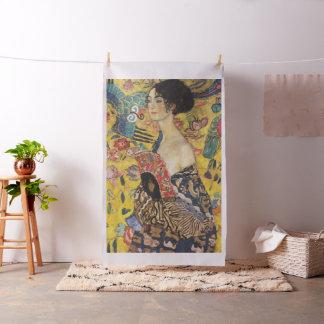 Tissu Peinture de Madame With Fan Art Nouveau de Gustav