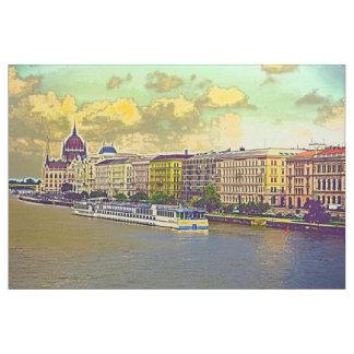 Tissu Peinture hongroise du Parlement