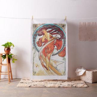 Tissu Peinture vintage de Nouveau d'art de danse