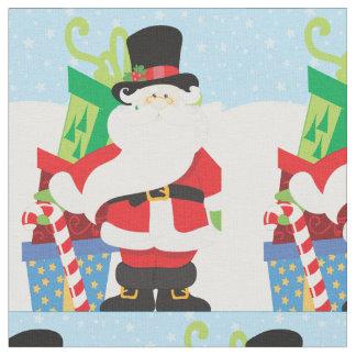 Tissu père Noël dans le tophat par la pile de presentts