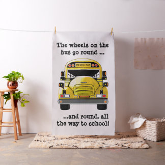 Tissu personnalisé par autobus scolaire