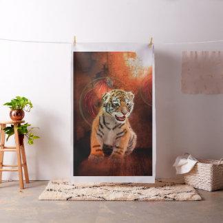 Tissu Petit bébé mignon de tigre