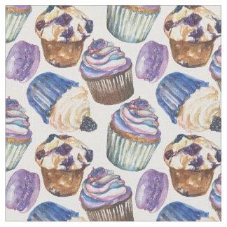 Tissu Petits gâteaux d'aquarelle