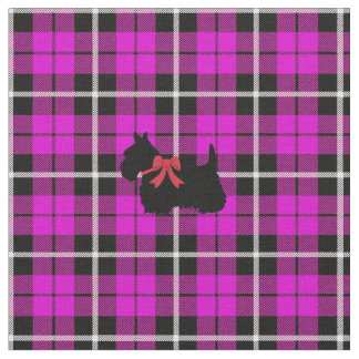 Tissu Plaid chaud profond de Terrier d'écossais de