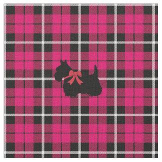 Tissu Plaid chaud profond de Terrier d'écossais de rose