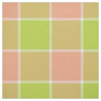 Tissu plaid checkered blanc de pêche de chaux