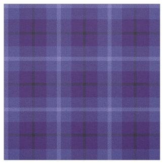 Tissu Plaid noir/blanc royal et bleu-foncé lumineux de