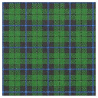 Tissu Plaid noir vert clair print2 de rayure bleue