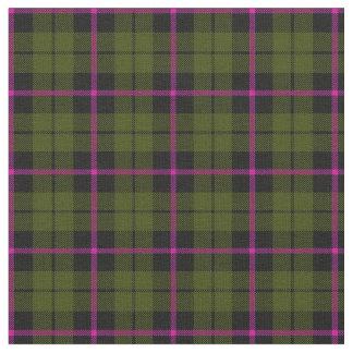 Tissu plaid print2 de rayure de rose de vert d'armée
