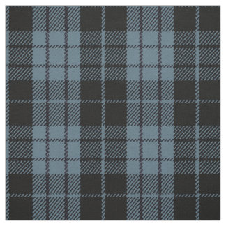 Tissu Plaid rayure noire/bleue de gris bleu Artic,
