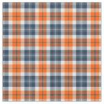 Tissu Plaid sportif orange et bleu