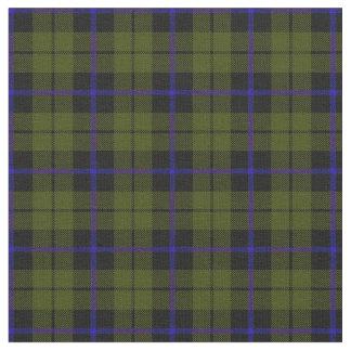 Tissu plaid vert-bleu print2 de rayure d'armée d'odee