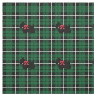 Tissu Plaid vert irlandais vert de Terrier d'écossais de
