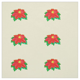 Tissu Poinsettia brillante d'écarlate