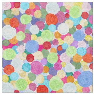 Tissu Points abstraits colorés