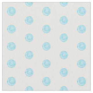 Tissu Points peints de bleu de ciel