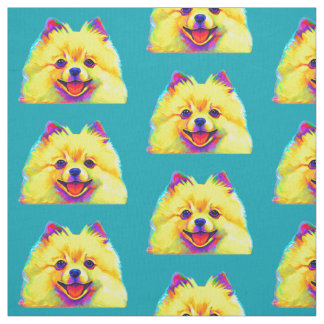 Tissu Pomeranian coloré
