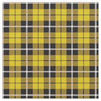Tissu Rayure blanche d'automne profond/noire jaune
