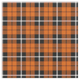 Tissu Rayure blanche d'automne profond/noire orange