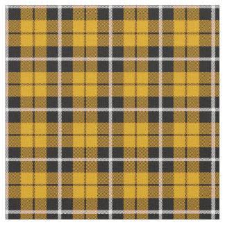 Tissu Rayure blanche/noire d'automne de jaune profond