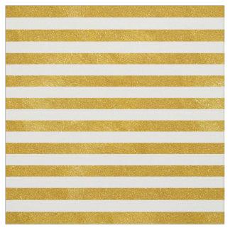 Tissu Rayure élégante d'or - coutume votre couleur