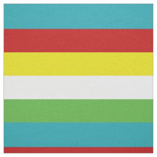 Tissu Rayures de palette d'amusement d'été