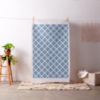 Tissu Rayures diagonales blanches de trellis sur le bleu
