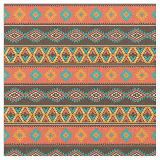 Tissu Rayures tribales géométriques de ton de la terre