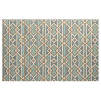 Tissu Regard ethnique éclectique de turquoise turquoise