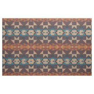 Tissu Regard ethnique orange de Brown de Taupe bleu