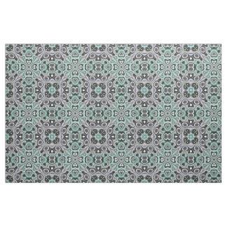 Tissu Rétro motif de mosaïque chic pourpre gris