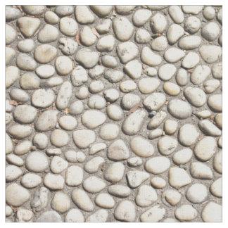 Tissu Roches en pierre de trottoir de passage couvert de