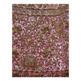 Tissu rose brodé New Delhi Inde Prospectus Avec Motif