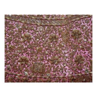 Tissu rose brodé New Delhi Inde Prospectus Personnalisés
