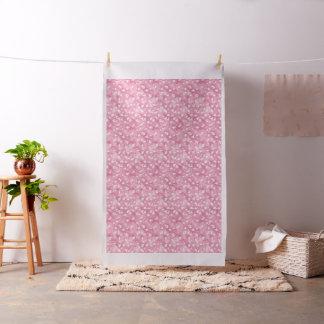 Tissu rose-clair de Ginkgos et de fleurs