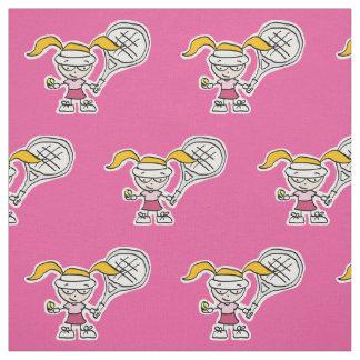 Tissu rose Girly de bande dessinée de joueur de