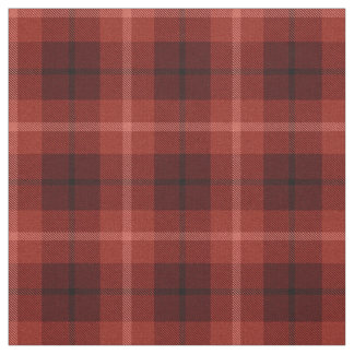 Tissu Rouge de cerise /black blanc barré