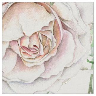 Tissu Rustique pâlissez - le motif floral de feuille de