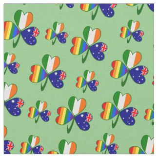 Tissu Shamrock irlandais australien de gay pride