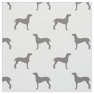 Tissu Silhouettes grises de Weimaraner sur l'arrière -