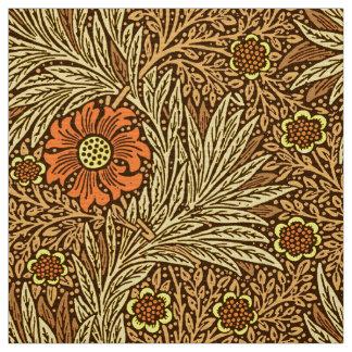 Tissu Souci de William Morris, Brown de cuivre et orange