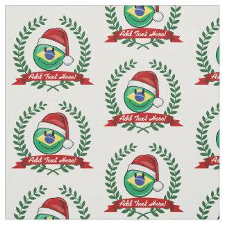 Tissu Style brésilien très de sourire de Noël de drapeau