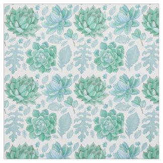 Tissu succulent de motif, floral vert botanique