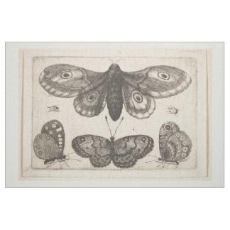 Tissu Tapisserie vintage de lépidoptères de papillon de