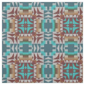 Tissu Tendre le motif de mosaïque de Bohème ethnique